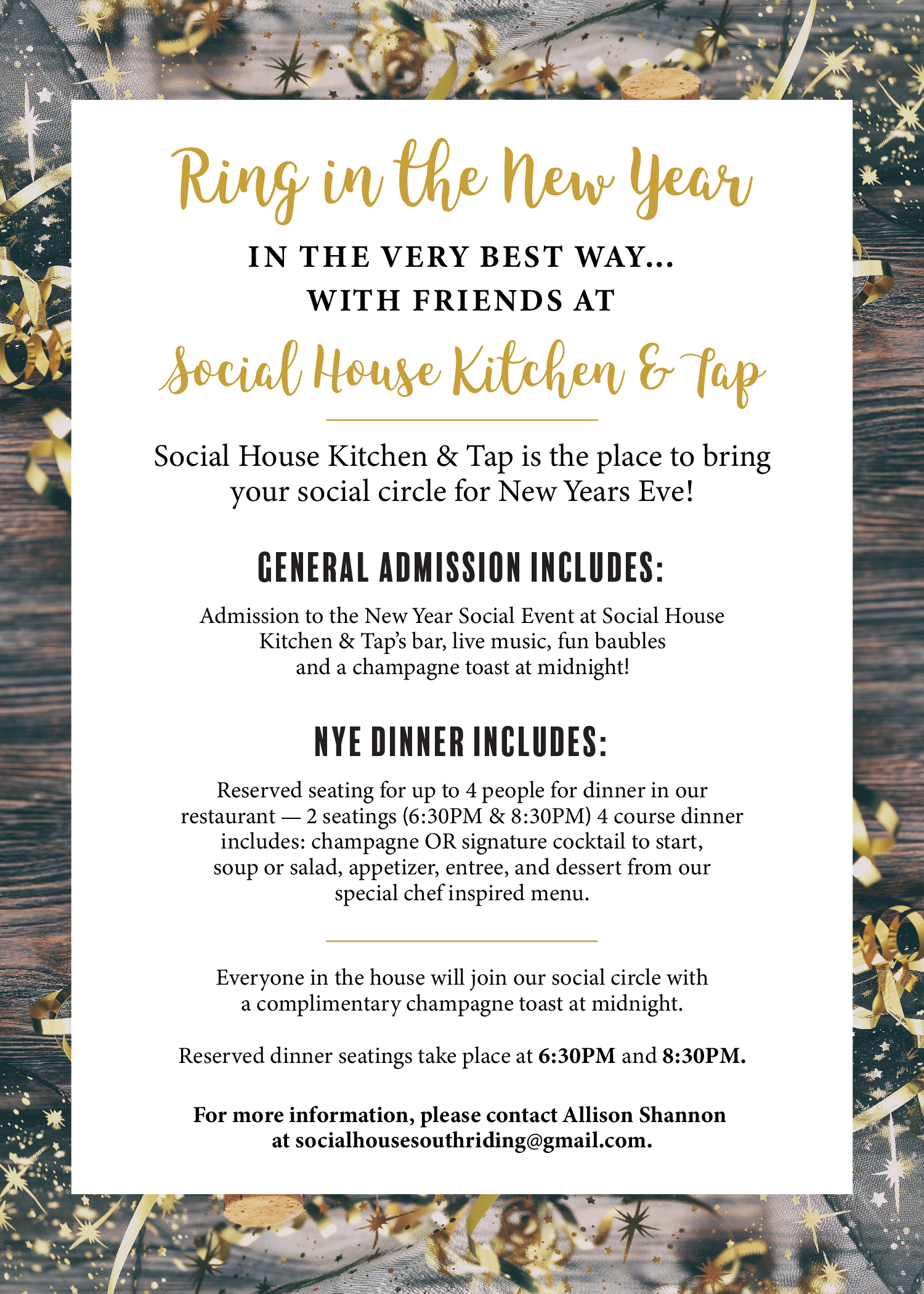Ring in the New Year at Social House!